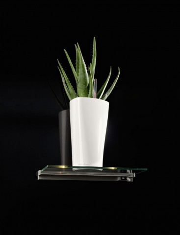 Lechuza Delta 15 White High Gloss Self Watering Table Planter
