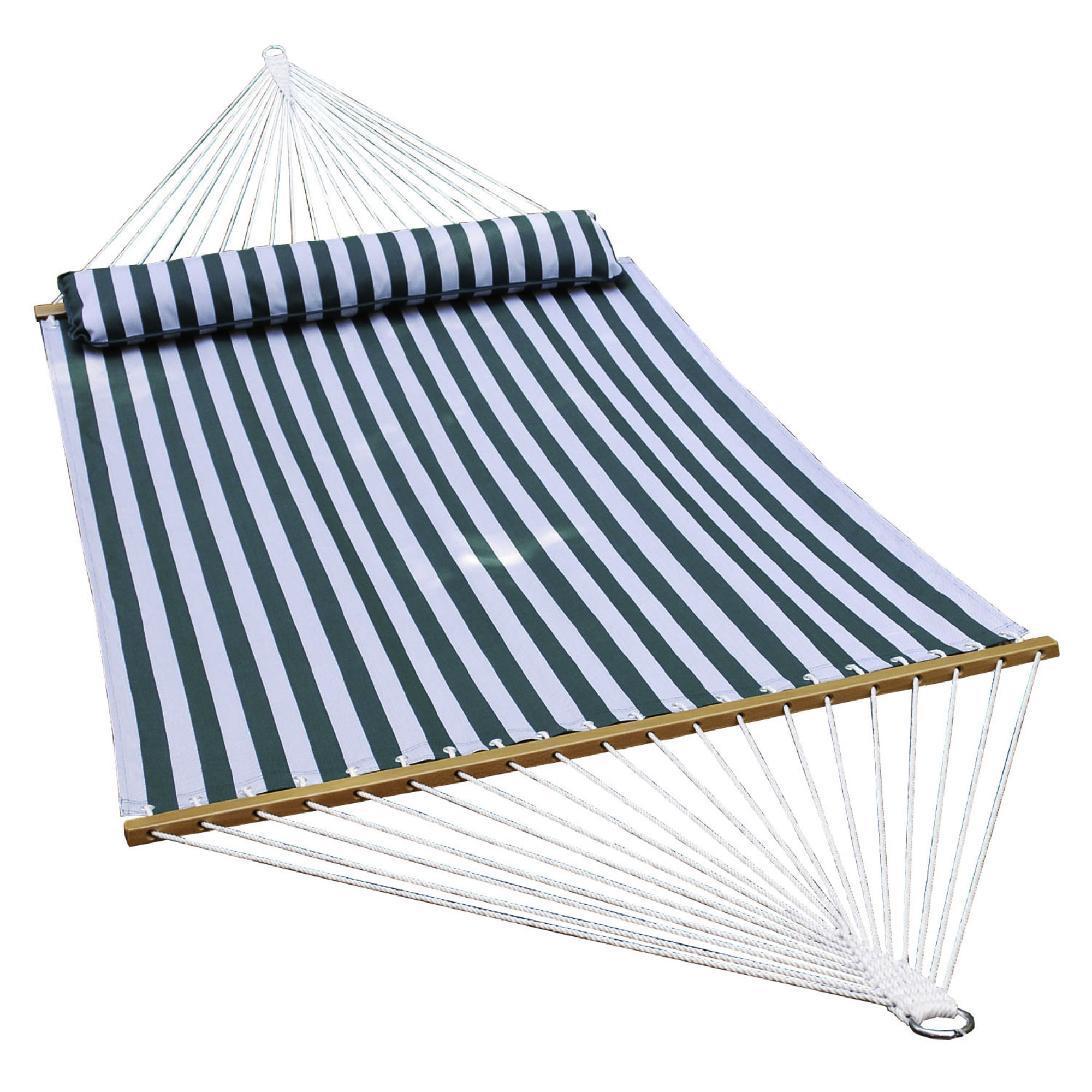 Textilene Hammock - Green/White Stripe