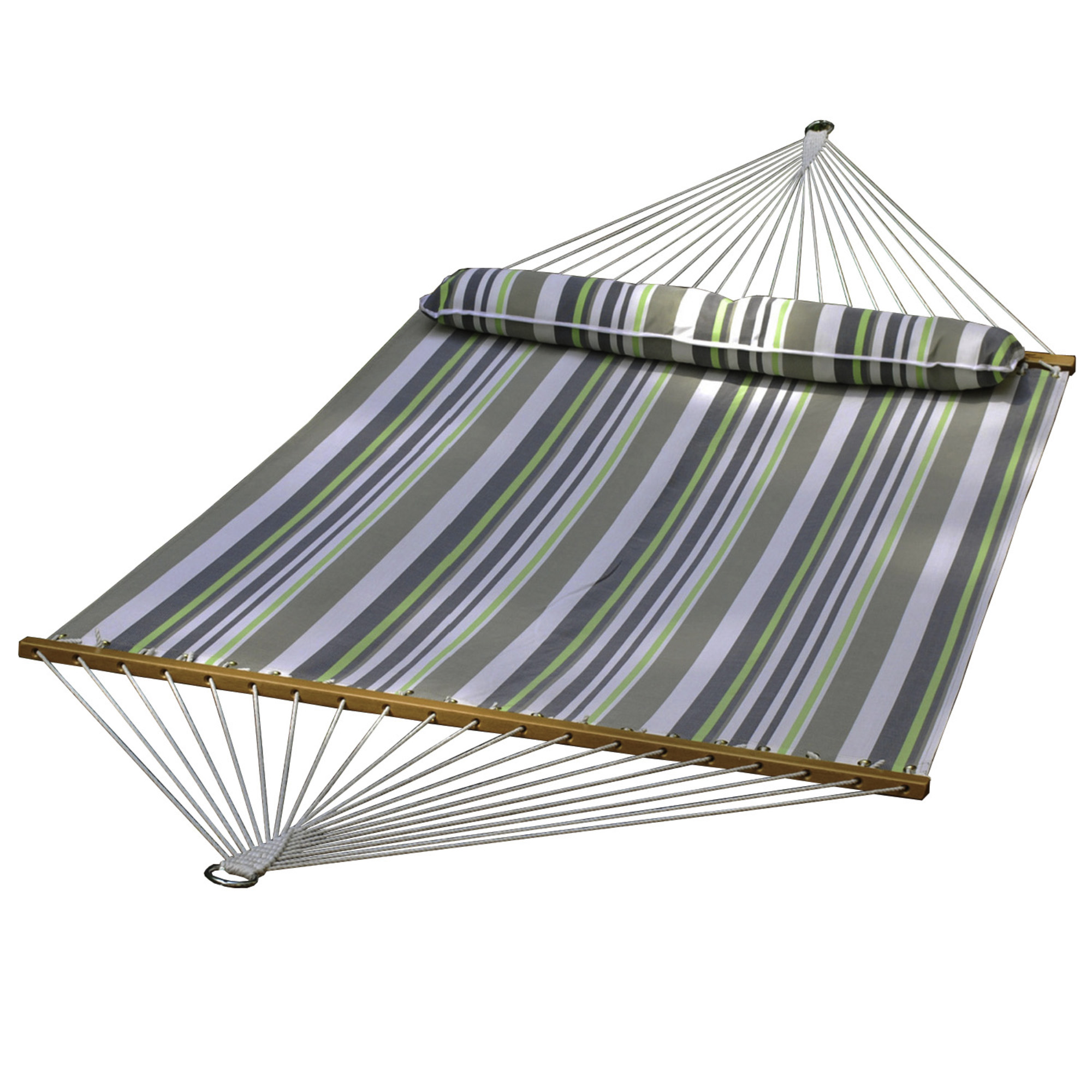 Textilene Hammock - Green/Grey Stripe