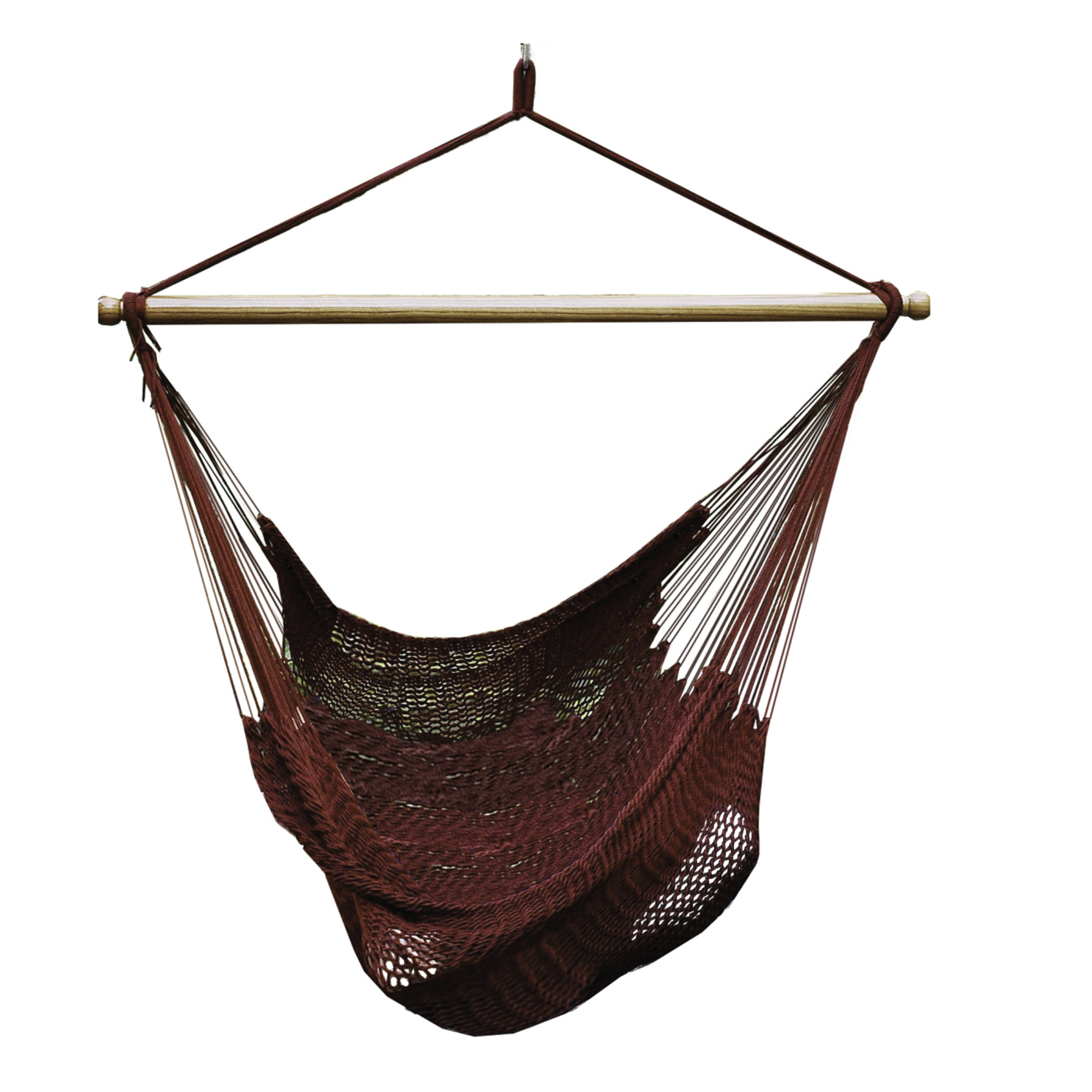 Hanging Burgundy Polyester Rope Chair