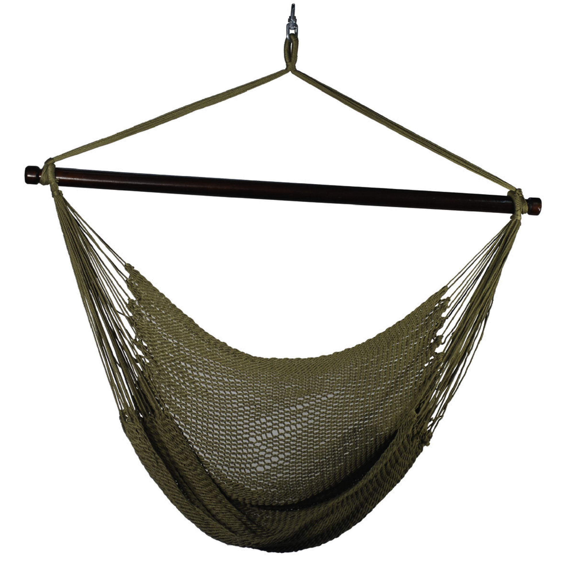 Hanging Tan Polyester Rope Chair