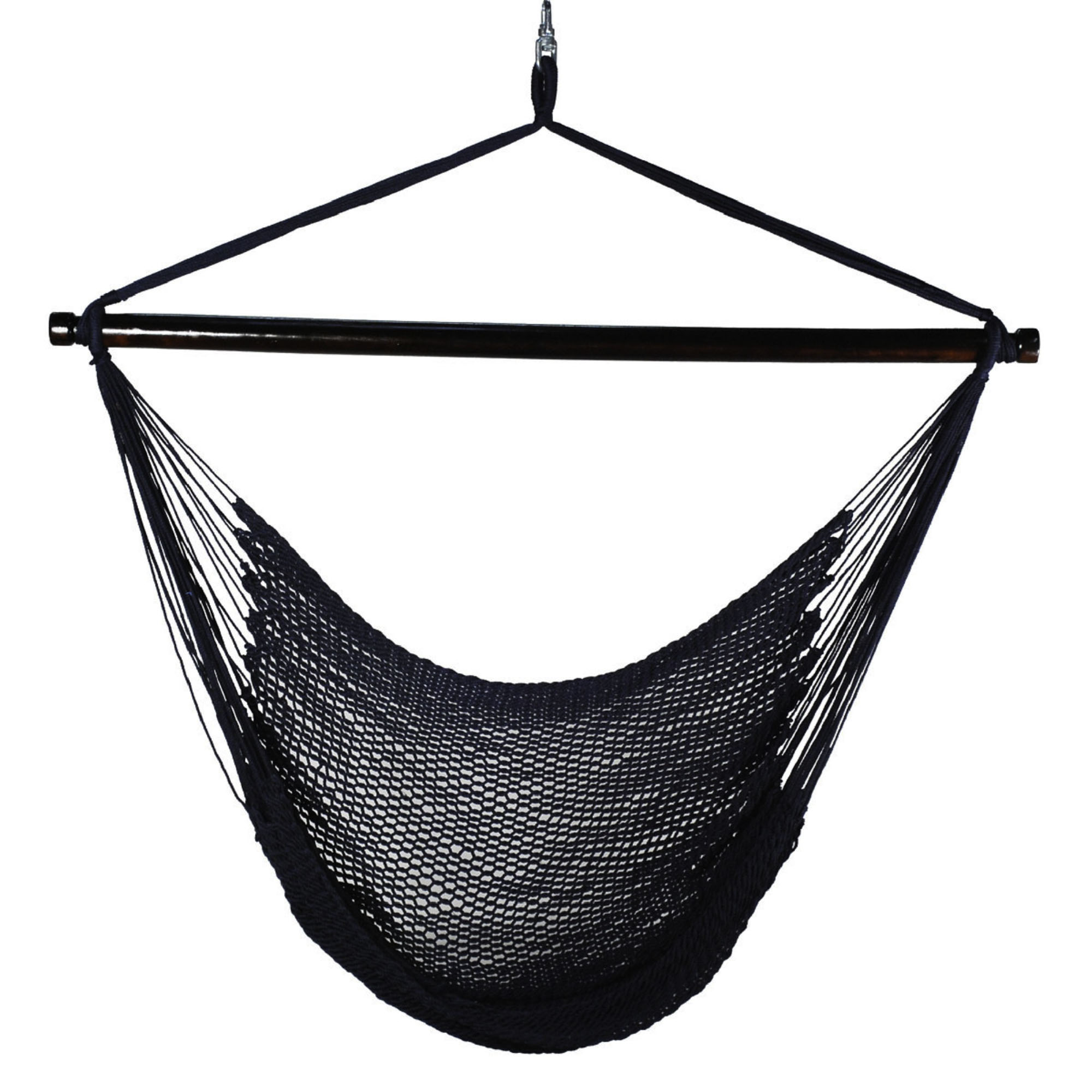Hanging Navy Polyester Rope Chair