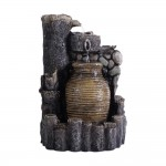 Mini Flowing Urn Fountain with Lights
