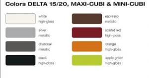 Lechuza Deltini, Delta 15, Delta 20, Maxi Cubi and Mini Cubi Color Selection
