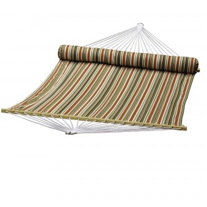 Quilted Reversible Hammock Green-Off White-Rust