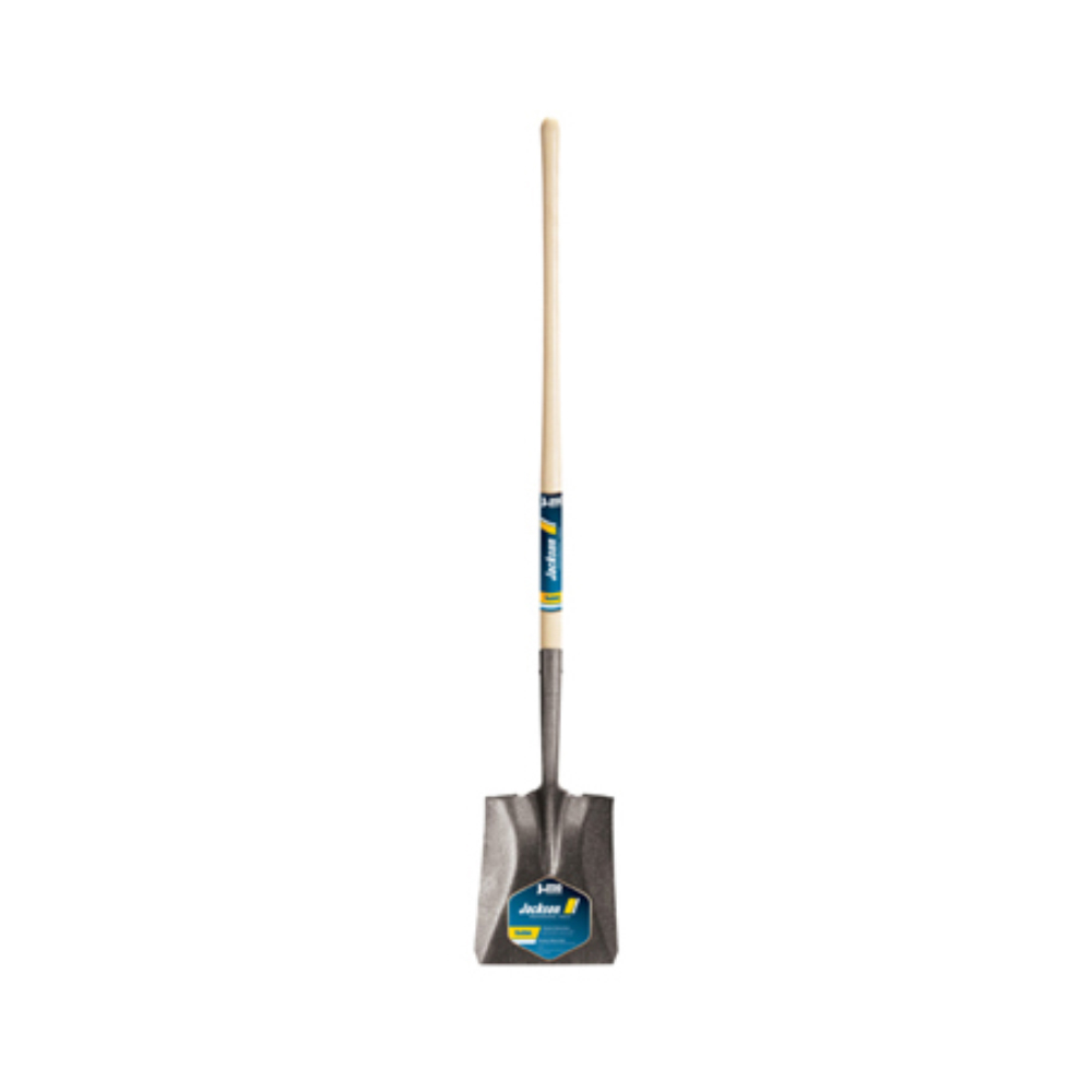 Square Point Shovel with Long Handle/Closed Back by Jackson