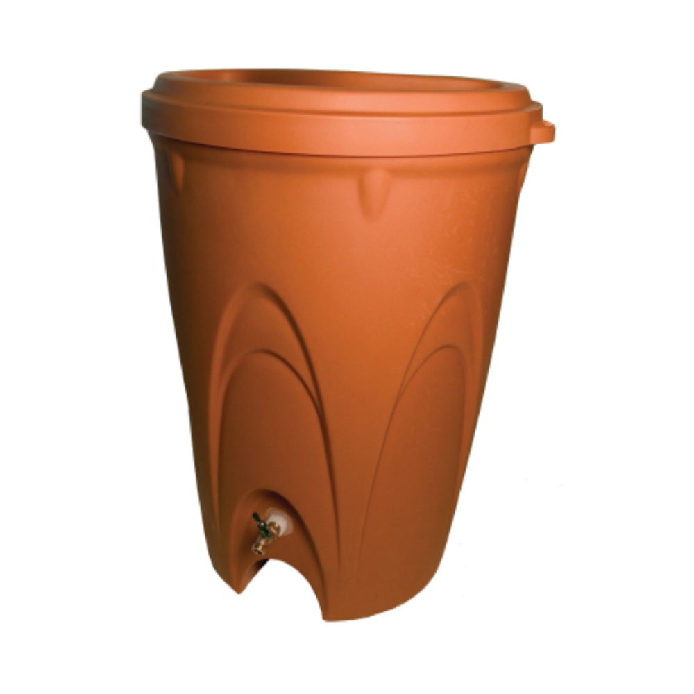 Rainxchange Terra Cotta Rain Barrel Metropolitan